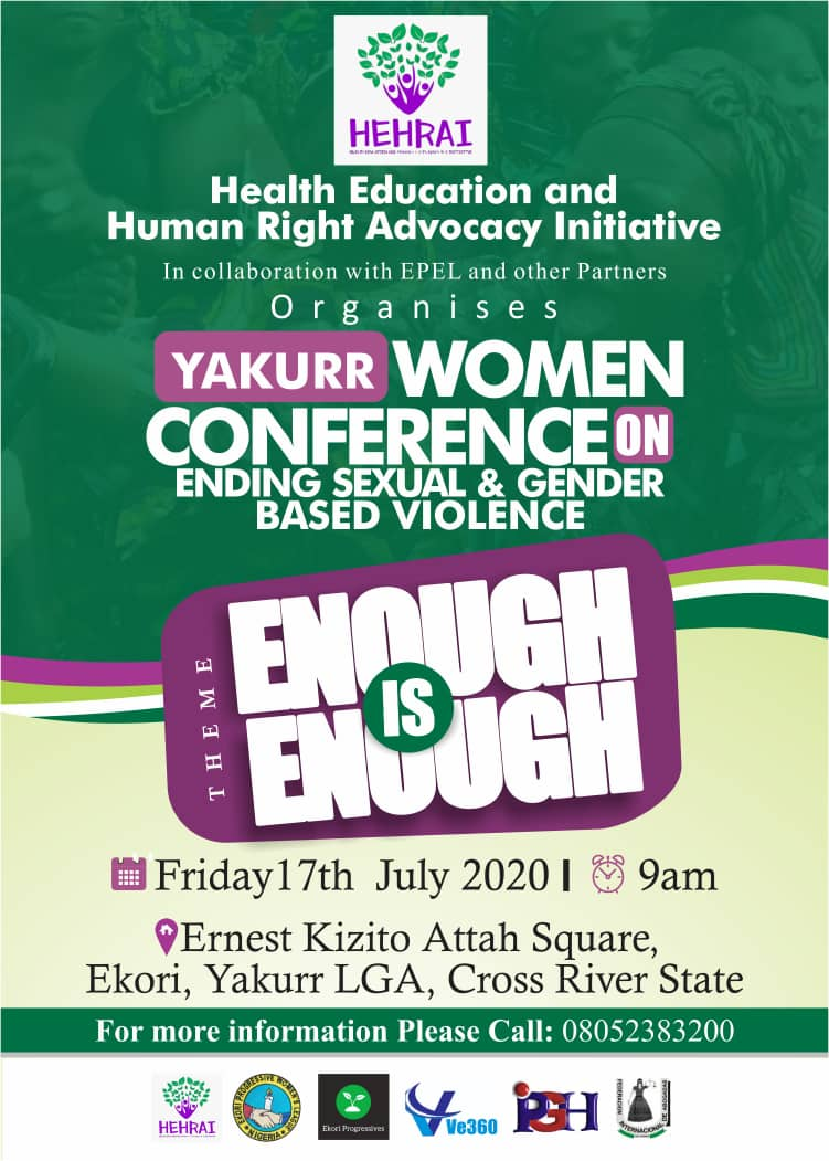 YAKURR WOMEN CONFERENCE ON ENDING SEXUAL & GENDER BASED VIOLENCE